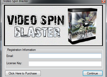 "This is the 100% working crack for ""Video Spin Blaster"". Download and extract the .exe file. Copy it into the folder. Start the Video Spin Blaster Programm and click continue […]"